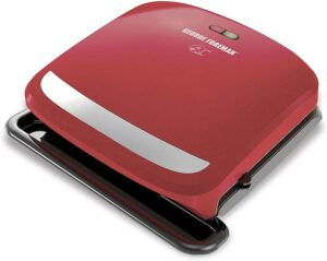 George Foreman 4-Serving Removable Plate Grill red