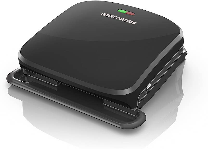 George Foreman 4-Serving Removable Plate Grill Black