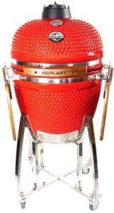 Outlast Ceramic Kamado Charcoal Grill Red